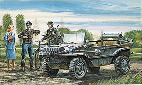 Italeri Schwimmwagen Amphibious Light WWII Plastic Model Military Vehicle Kit 1/35 Scale #550313