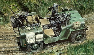 Italeri Commando Car -- Plastic Model Military Vehicle Kit -- 1/35 Scale -- #550320
