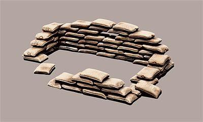 Italeri Sandbags -- Plastic Model Military Diorama Kit -- 1/35 Scale -- #550406