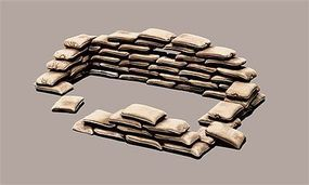 Italeri Sandbags Plastic Model Military Diorama Kit 1/35 Scale #550406