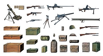 Italeri WWII Accessories Plastic Model Military Diorama Kit 1/35 Scale #550407