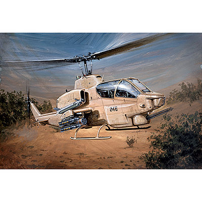 Italeri Bell AH-1W Supercobra Plastic Model Helicopter Kit 1/48 Scale #550833