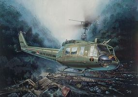 Italeri UH1D Slick Helicopter Plastic Model Helicopter Kit 1/48 Scale #550849