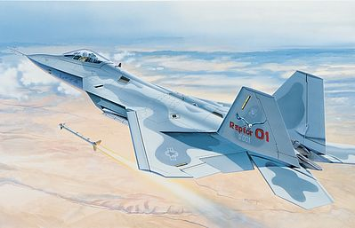 Italeri F-22 Raptor -- Plastic Model Airplane Kit -- 1/48 Scale -- #550850