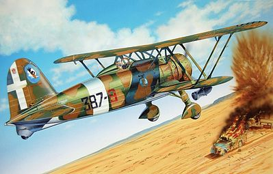 Italeri CR.42 AS WWII Biplane -- Plastic Model Airplane Kit -- 1/72 Scale -- #551263