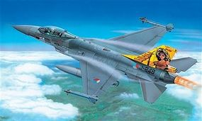 Italeri F16 Fighting Falcon Combat Aircraft Plastic Model Airplane Kit 1/72 Scale #551271