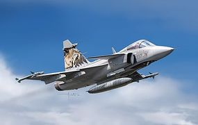 Italeri JAS 39 Gripen Swedish Multi-Role Fighter Plastic Model Airplane Kit 1/72 Scale #551306