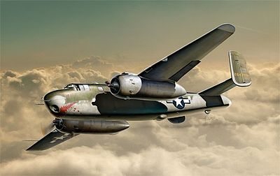 Italeri B-25G Mitchell -- Plastic Model Airplane Kit -- 1/72 Scale -- #551309