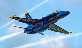 Italeri F/A18 Hornet Blue Angels USN Aerobatic Plastic Model Airplane Kit 1/72 Scale #551324