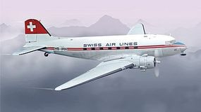 Italeri DC-3 Swissair Plastic Model Airplane Kit 1/72 Scale #551349
