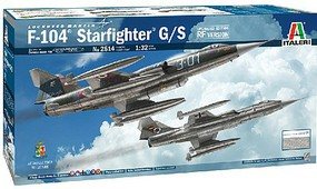 Italeri F104G/S Starfighter Supersonic Interceptor Plastic Model Airplane Kit 1/32 Scale #552514