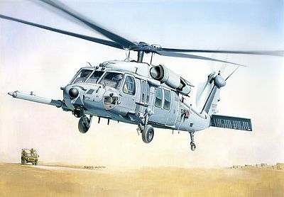 Italeri MH-60K Blackhawk SOA Plastic Model Helicopter Kit 1/48 Scale #552666