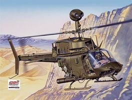 Italeri Bell OH-58D Kiowa Plastic Model Helicopter Kit 1/48 Scale #552704