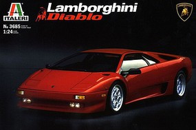 Italeri Lamborghini Diablo Sports Plastic Model Car Kit 1/24 Scale #553685