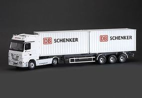 Italeri Mercedes Benz Actros Tractor Trailer Plastic Model Truck Kit 1/24 Scale #553865