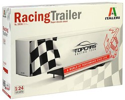 Italeri 22-Ft Fifth Wheel Racing Transport Trailer Plastic Model Trailer Kit 1/24 Scale #553936