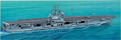 Italeri USS Ronald Reagan -- Plastic Model Military Ship Kit -- 1/720 Scale -- #555533