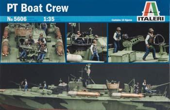 Italeri PT Boat Crew Figures -- Plastic Model Military Figure Kit -- 1/35 Scale -- #555606
