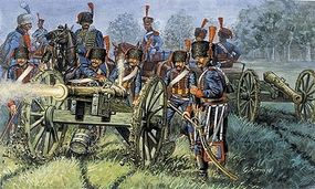 Italeri Napoleonic War French Artillery Plastic Model Military Figure Kit 1/72 Scale #556018