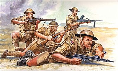 Italeri WWII British 8th Army Soldiers Plastic Model Military Figure Kit 1/72 Scale #556077