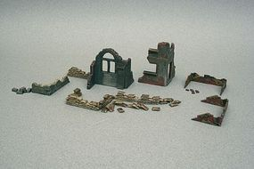 Italeri Accessories & Ruins Plastic Model Military Diorama 1/72 Scale #556087