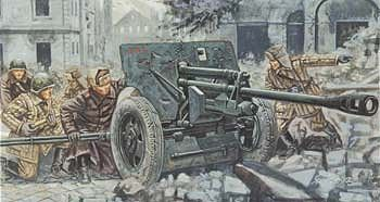 WWII Italian 90//53 Gun With Servants Figure Plastic Kit 1:72 Model ITALERI