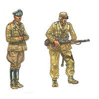 Italeri WWII DAK Infantry Plastic Model Military Figure Kit 1/72 Scale #556099