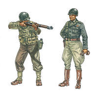 Italeri U.S. WWII Infantry Plastic Model Military Figure Kit 1/72 Scale #556120
