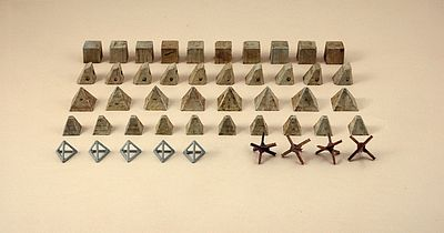 Italeri Antitank Obstacles Plastic Model Military Diorama 1/72 Scale #556147