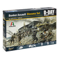 Italeri Coastal Bunker Assault Plastic Model Military Diorama Set 1/72 Scale #556172