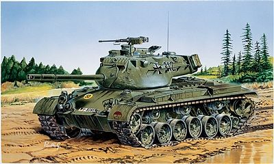 Italeri M47 Patton Tank -- Plastic Model Military Vehicle Kit -- 1/35 Scale -- #556447