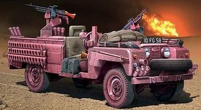 Italeri S.A.S. Recon Vehicle Pink Panther Plastic Model Military Vehicle Kit 1/35 Scale #556501