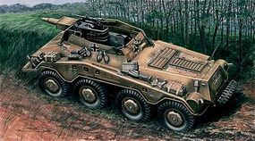 Italeri Sd. Kfz 234/3 Plastic Model Military Vehicle Kit 1/72 Scale #557037
