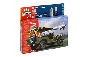Italeri Willys Jeep Follow Me Plastic Model Military Vehicle Kit 1/35 Scale #5570390