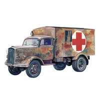 Italeri Kfz 305 Ambulance Plastic Model Military Vehicle Kit 1/72 Scale #557055