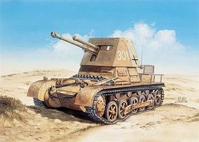 Italeri Panzerjager I Tank Plastic Model Military Vehicle Kit 1/72 Scale #557058