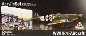 Italeri WWII RAF Aircraft 6 Color Asst Acrylic Paint Set
