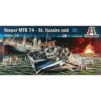 Italeri Vosper MTB 74 St. Nazaire Raid Plastic Model Military Ship Kit 1/35 Scale #5619s