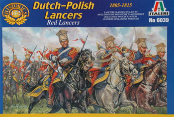 Italeri Napoleonic War Polish Lancers Plastic Model Military Figure Kit 1/72 Scale #6039