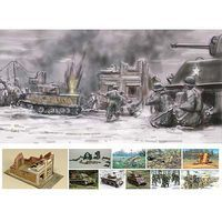 Italeri Battle of Bastogne December 1944 Plastic Model Military Diorama Kit 1/72 Scale #6113s