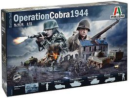 Italeri Operation Cobra Battle Set Plastic Model Military Figure Kit 1/72 Scale #6116s