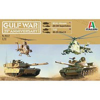 Italeri Gulf War Anniversary Box Diorama Set Plastic Model Military Vehicle Kit 1/72 Scale #6117s