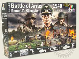 Italeri WWII Battle Set 1940 Battle of Arras Plastic Model Military Diorama 1/72 Scale #6118s