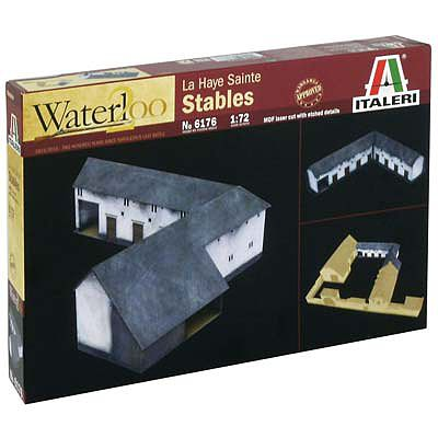 Italeri Waterloo 1815 La Haye Sanite Stables -- Plastic Model Building Kit -- 1/72 Scale -- #6176s