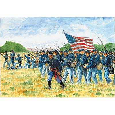 Italeri Union Infantry American Civil War Plastic Model Military Figure Kit 1/72 Scale #6177s
