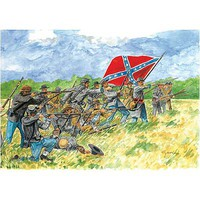 Italeri Confederate Infantry American Civil War Plastic Model Military Figure Kit 1/72 Scale #6178s