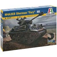 Italeri M4A3E8 Sherman Fury Plastic Model Military Vehicle Kit 1/35 Scale #6529s