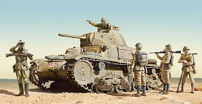 Italeri M14/41 with Italian Infantry Plastic Model Military Vehicle Kit 1/35 Scale #6543s
