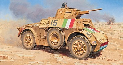 Italeri Autoblinda AB 41 Armored Car Plastic Model Military Vehicle Kit 1/72 Scale #7051s