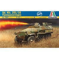 Italeri WWII Germand Sd.Kfz 251/16 Flammpanzerwagen Plastic Model Military Vehicle Kit 1/72 #7067s